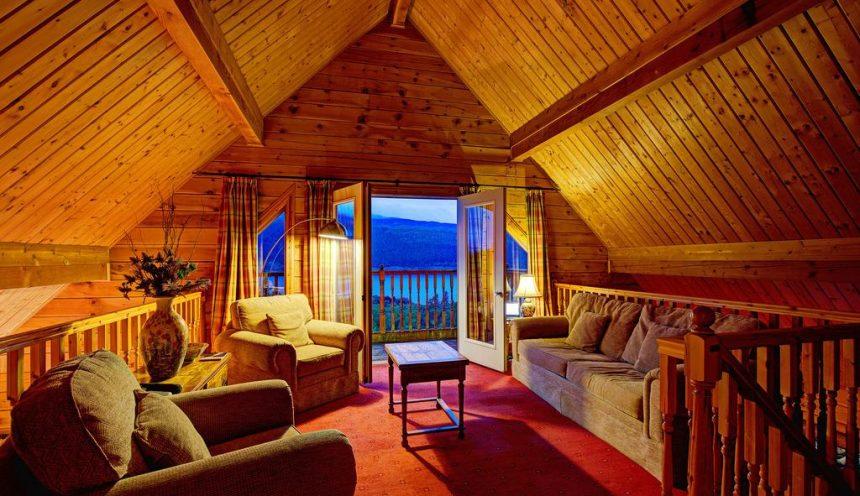 Lodges on Loch Ness Interior Night